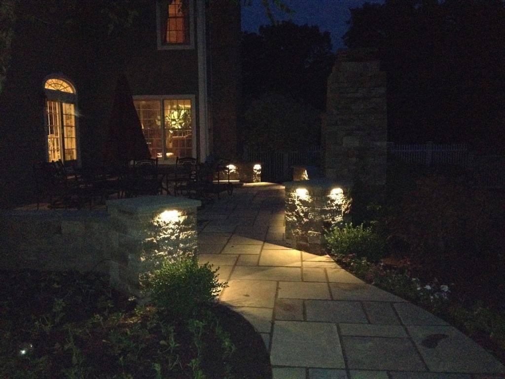 Custom Patio at Night