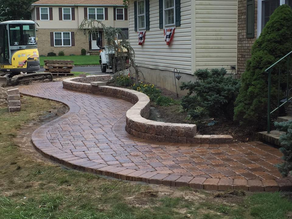 Custom Paver Walkway Installation - Succasunna NJ