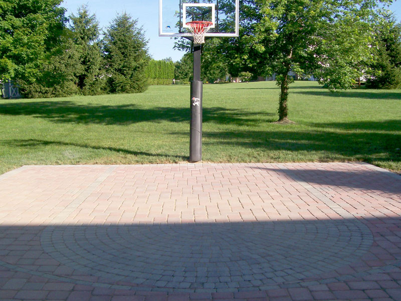Outdoor Paver Basketball Court Install, Chester NJ