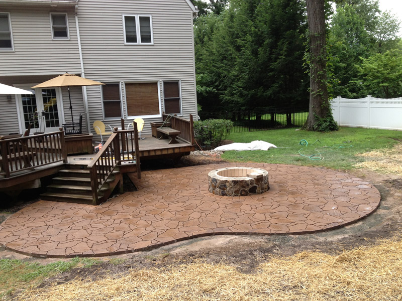Paver Patio & Custom Fire Pit  – Mount Olive New Jersey