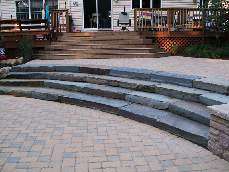 Paver stairs and Patio, Chester NJ